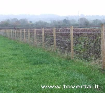 Tinklinė tvora ( tvoros miškui, fermai, ūkiui).