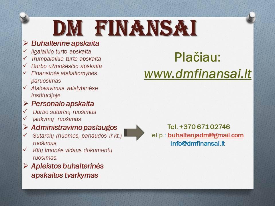 Kokybiškos buhalterinės apskaitos paslaugos