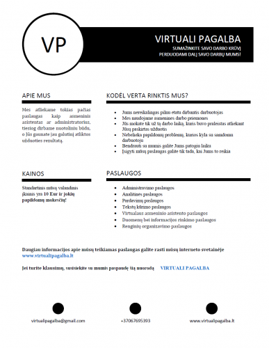 Virtuali asistentė / WWW.VIRTUALIPAGALBA.LT