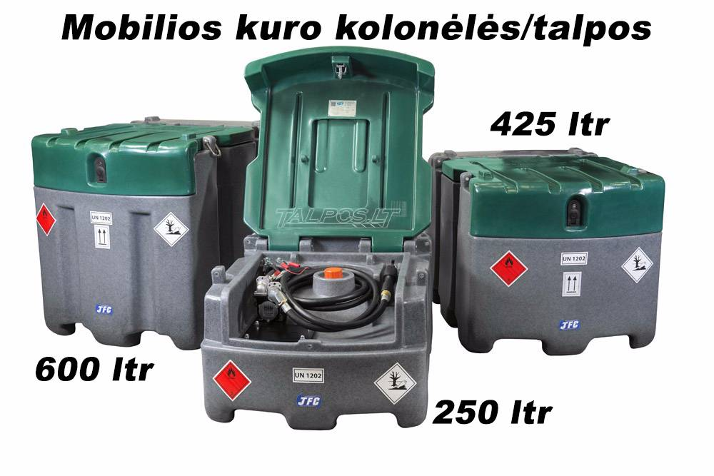 Transportuojamos kuro talpyklos 250-900 L talpos