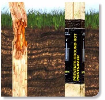 POSTSAVER bituminė medinių kuolų ir stulpų apsauga