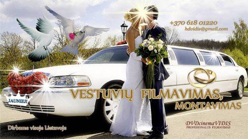 Vestuvių FILMAVIMAS HD, montavimas, įrašymai.