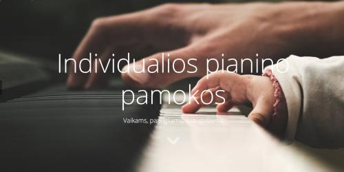 Individualios fortepijono pamokos, Vilniuje