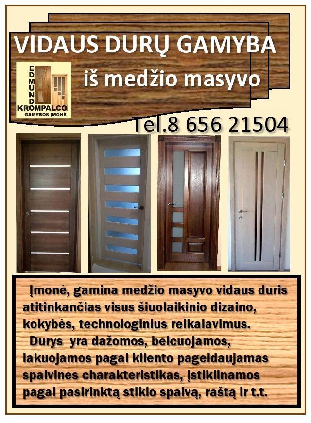 Durų gamyba iš natūralios medienos