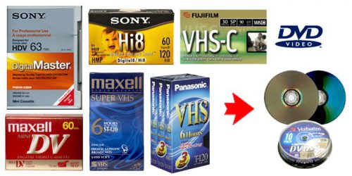 Kokybiškai perrašau iš VHS ir VHS-C. Skaitmeninu, skaidres ir fotojuostas, Įrašau laidas. NUOMOJU retro vaudio techniką.