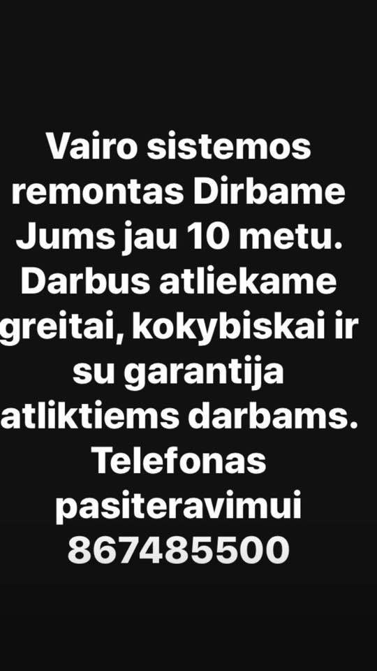 VAIRO KOLONELES REMONTAS