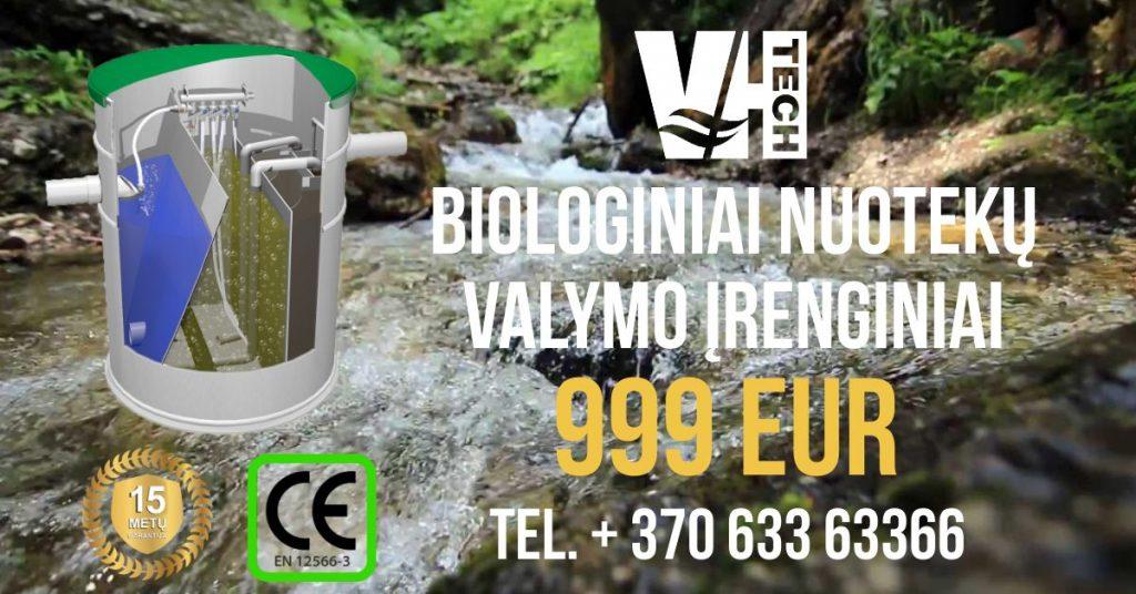 Populiariausi biologiniai valymo įrenginiai – tik €999