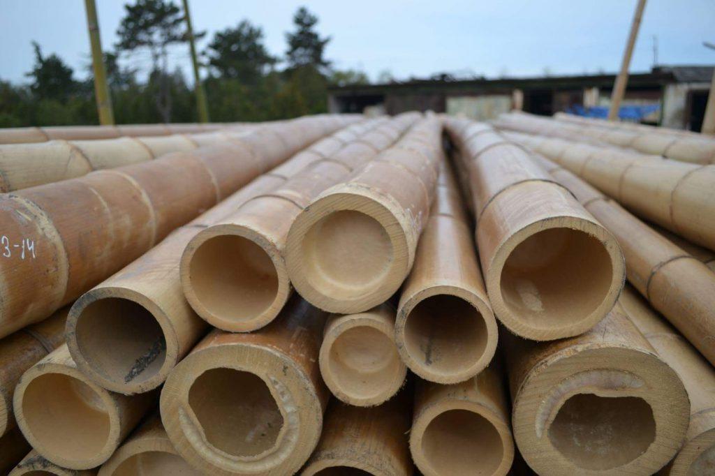 Bambuko lazdelės, bambuko stiebai