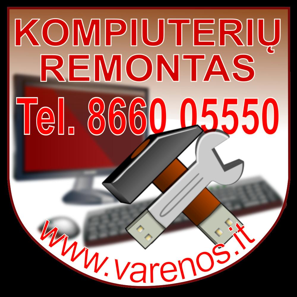 Kompiuterių remontas Varėnoje
