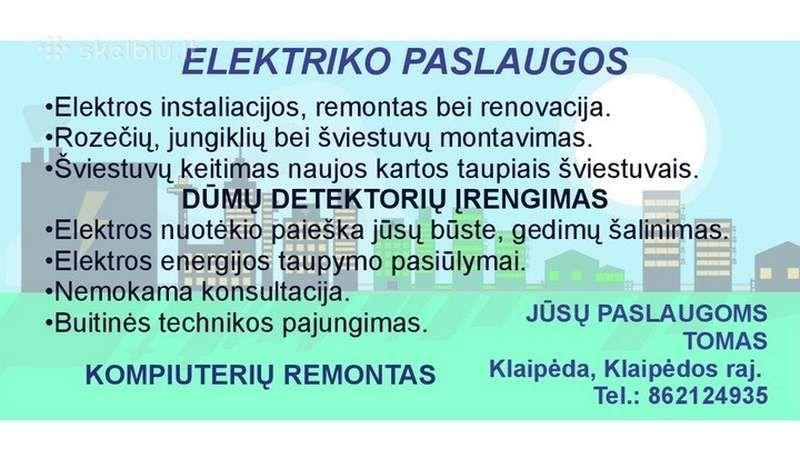 Jūsų elektrikas Elektra Buto renovacija