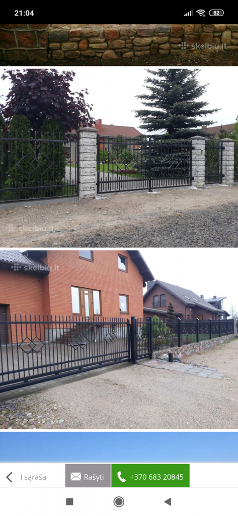Slenkantis vartai