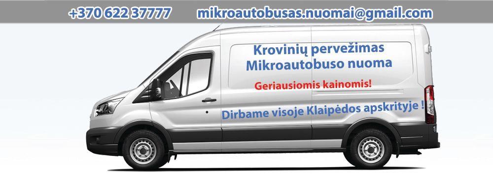mikroautobuso nuoma, kroviniu pervezimas, baldu perkraustymas