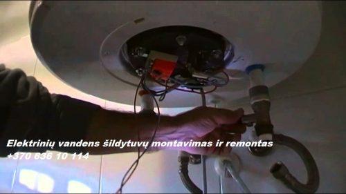 Elektrinių vandens šildytuvų taisymas
