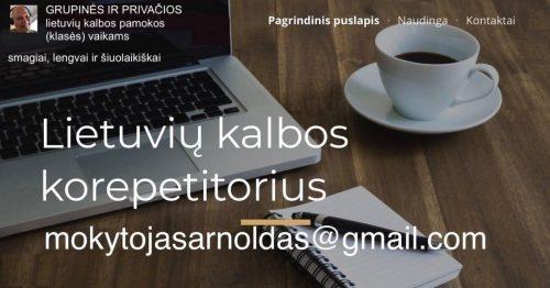 Lietuvių kalbos mokytojas padės užpildyti mokymosi spragas