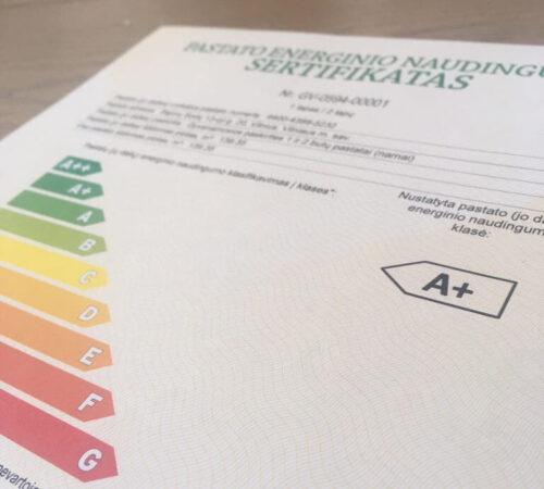 Pastatų energinio naudingumo sertifikavimas/sertifikatas