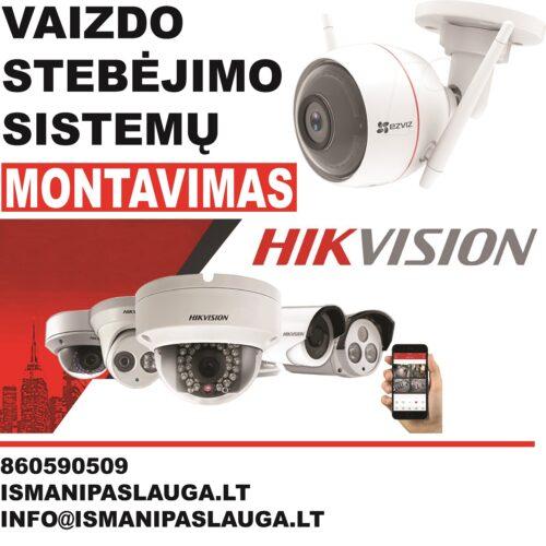 Signalizacijos ir vaizdo kameros. Montavimas